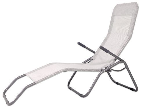 MD - Tumbona reclinable hierro, color blanco