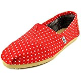 Toms Women's Classics Natural Polka Dot Linen Casual Shoe