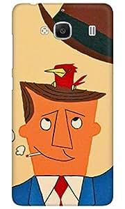 Dreambolic A MAN BIRD Back Cover for Xiaomi Redmi 2