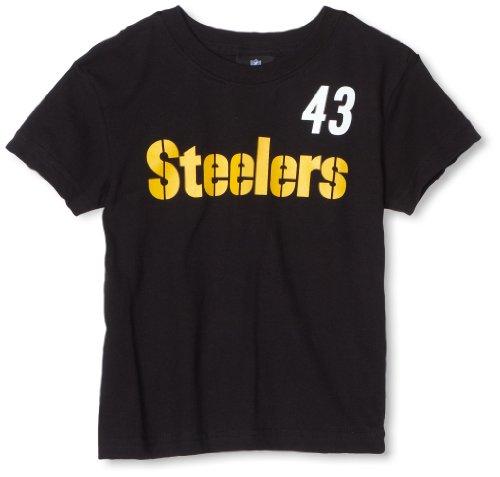 NFL Pittsburgh Steelers Troy Polamalu Name & Number Tee Shirt Boys' from SteelerMania
