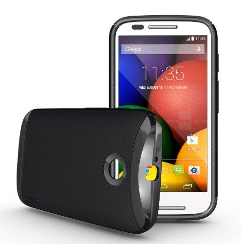 Tudia Ultra Slim Lite Tpu Bumper Protective Case For Motorola Moto E (2014) (Black)
