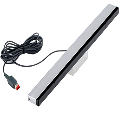 mini-butterball-wired-infrared-sensor-bar-for-wii-works-with-nintendo-wii-wii-u-console-black-silver