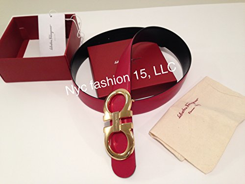 salvatore-ferragamo-black-red-reversible-big-gold-buckle-belt-95cm-waist-32-34