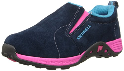 Girl's Merrell 'Jungle Moc' Slip-On Navy/ Pink 5.5 W