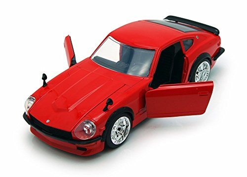 1972 Datsun 240Z, Red - Jada Toys 92090 - 1/24 scale Diecast Model Toy Car (Brand New, but NO BOX) (Datsun 240z Model Car compare prices)