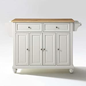 amazon com crosley furniture cambridge natural wood top