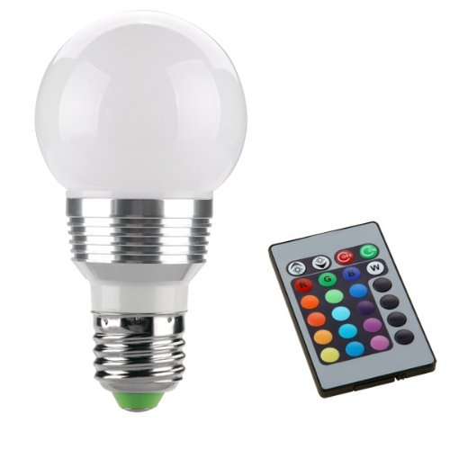Sonline E27 LAMPADA BULBO LED LUCE RGB 230V 3W + TELECOMANDO
