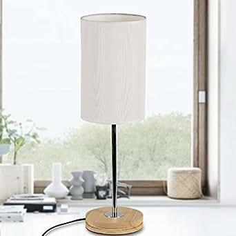 LIJUN Wooden Decorative Lamp Living Room Den Bedroom Bedside Lighting A