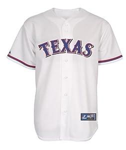 Texas Rangers Majestic Mens Blank Home White Replica Jersey - Medium by Texas Rangers