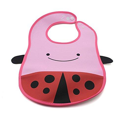 Cute Cartoon Animal Infant Toddler Bib Pvc Waterproof Baby Feeding Saliva Towel Ladybug front-898090