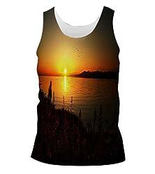 Snoogg Sun Rising Mens Casual Beach Fitness Vests Tank Tops Sleeveless T shirts