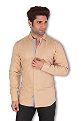 Kivon Men's Creame Casual Shirt