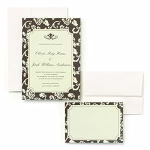 Amazon.com: Hortense B. Hewitt Wedding Accessories Brown Flourish