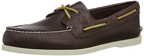 Sperry Authentic Original 2-Eye, Scarpe da Barca Uomo, Marrone (Brown), 42.5 M