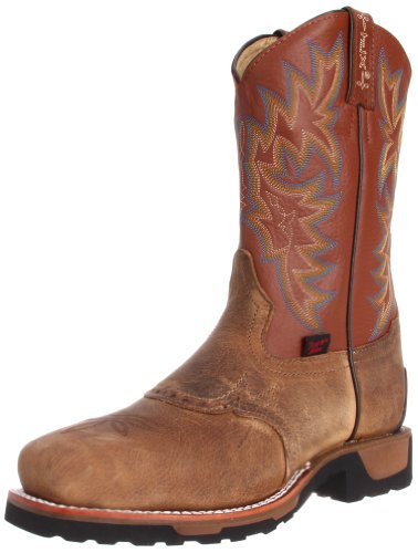 Tony Lama Boots Men's Steel Toe TW1052 Work Boot,Antique Brown Montana/Acorn Deercow,8 D US
