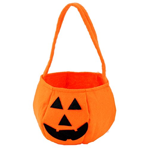 Sannysis Halloween Smile Pumpkin Kids Children Candy Bag