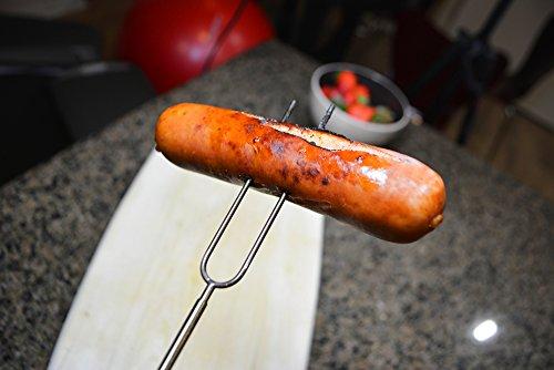 Marshmallow roasting sticks four stainless steel hot dog