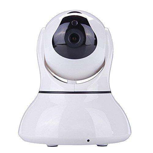 SEGURO® HD 1280 x 720P WIFI videosorveglianza Ip Cam senza fili WIFI Ip Camera videosorveglianza Videocamera di Sorveglianza Visore notturno Day&Night, Funzionalità Range Extender IR-CUT Motorizzata con Movimenti Pan/Tilt/Zoom, Rilevatore di Movimenti e Suoni (Bianco)