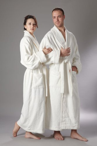 Mens and Womens 100% Organic Long Bathrobe