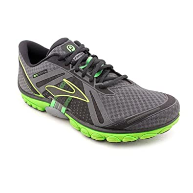 Brooks Mens PureCadence Running Shoes Color: Anthracite/Blk/LmGrn/Pvmt Size: 12.0