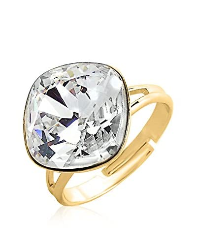 Swarovski Elements by Philippa Gold Anillo Crystal Rounded Square Ring