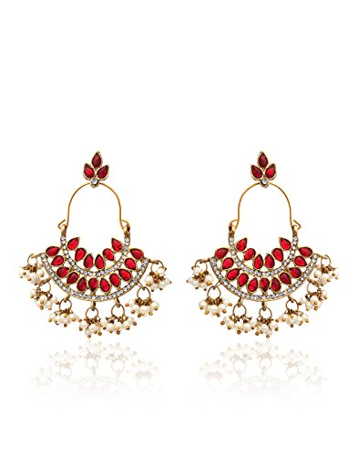 Zaveri-Pearls-Pearl-Ruby-Dangle-Drop-Earrings-for-Women-ZPFK1194