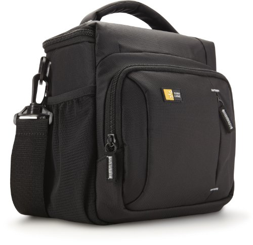 Case-Logic TBC-409 Borsa in Nylon per Fotocamera Reflex e Tasche per Accessori, Nero