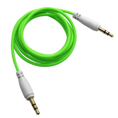 Cbus Wireless Green 3.3ft 3.5mm Male to Male Stereo Audio Auxiliary AUX Cable for PC iPod MP3 CAR