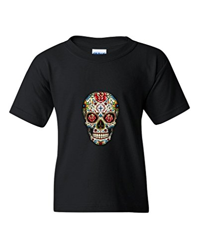 Sugar Skull Roses Youth's T-Shirt Day of Dead Shirts