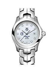 University of Connecticut Women's TAG Heuer Link Watch with Mother of Pearl Diamond Dial