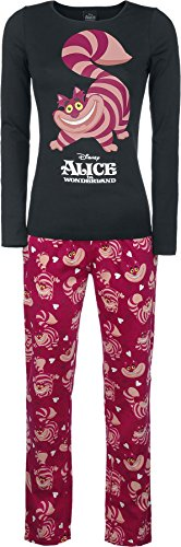 Alice in Wonderland Cheshire Cat - Fun, Fun, Fun Pigiama nero/rosso L