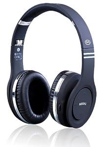 MiiKey Wireless MiiRhythm Stereo Bluetooth Headphones for iPhone - Bluetooth Headset - Retail Packaging-Black
