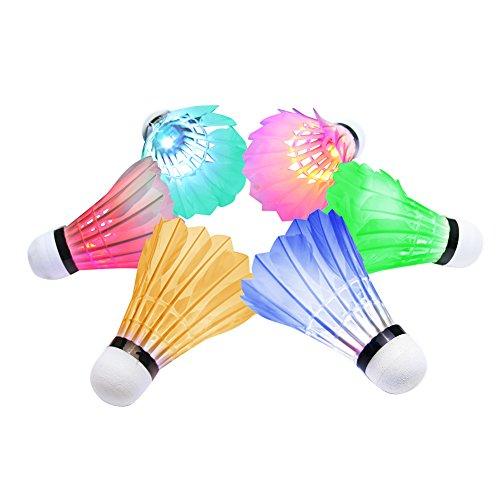 OuTera-Shuttlecock-Badminton-Birdies-Badminton-Glow-in-the-Dark-Shuttlecocks-Fun-for-Your-Family1-Year-Warranty