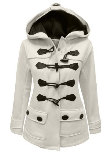 Candy Floss Ladies Fleece Jacket Duffle Style Toggle Coat Size 8-20 Cream