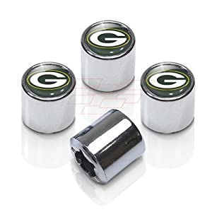 NFL Greenbay Packers Chrome Finish Tire Stem Valve Caps