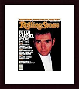 Rolling Stone Cover of Peter Gabriel / Rolling Stone Magazine Vol. 492, January 29, 1987, Art Print by Robert Mapplethorpe