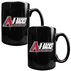 MLB Arizona Diamondbacks Two Piece Black Ceramic Mug Set by Great American Products