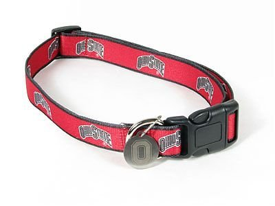 Sporty K9 Collegiate Ohio State Buckeyes Dog Collar, Medium/Large  - New Design