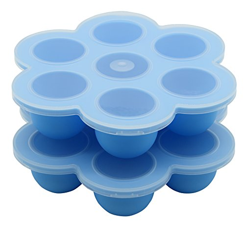 2 Pack - Baby Food Container, 7 Cups Silicone Baby Food Freezer Tray by Suntake (Blue) (Food Dry Freezer compare prices)