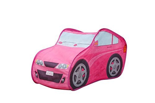 Alvantor Pink convertible cars mini driver play tent for kids,children game play house for toy& gift & Christmas