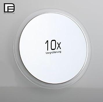 deusenfeld design acryl saugnapf kosmetikspiegel vergr erungsspiegel 16 7cm 10 fach. Black Bedroom Furniture Sets. Home Design Ideas