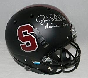 Jim Plunkett Autographed Signed Stanford Cardinal Matte Black Full Size Helmet -... by Sports+Memorabilia