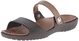 crocs Women\'s Coretta Dress Sandal, Espresso/Bronze, 9 B(M) US