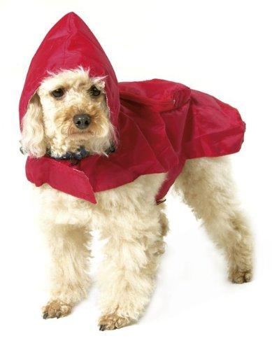 Artikelbild: Karlie - Hunde-Regenmantel Pocket Star - Rot 35cm