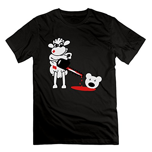 Men's Chainsaws Sheep Short Sleeve T-Shirt Black M (Cartman Voice Changer)
