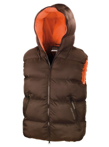 Result Urban R190X Dax Down Feel Gilet Bodywarmer Espresso/Orange S