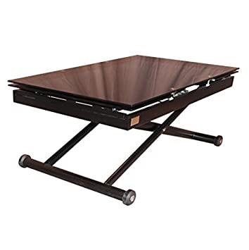 RR Design–Riser Extending Table Glass Table Living Room RR Design Jordan black