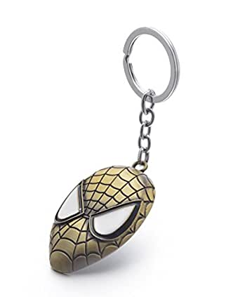 REINDEAR Marvel Movie Comics The Amazing Spider-Man Mask Alloy Pendent Keychain Ring US Seller