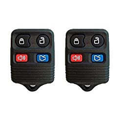 See 2 New Keyless Entry 4 Button Remote Car Key Fobs for Select Ford Lincoln Mercury w/FREE DIY Programming Guide Details