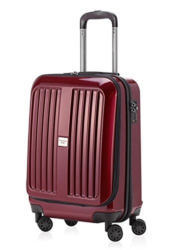 Principale città valigetta XBERG Borgogna con lucchetto TSA iggle stlty 42 litri + valigetta Ciondolo giallo
